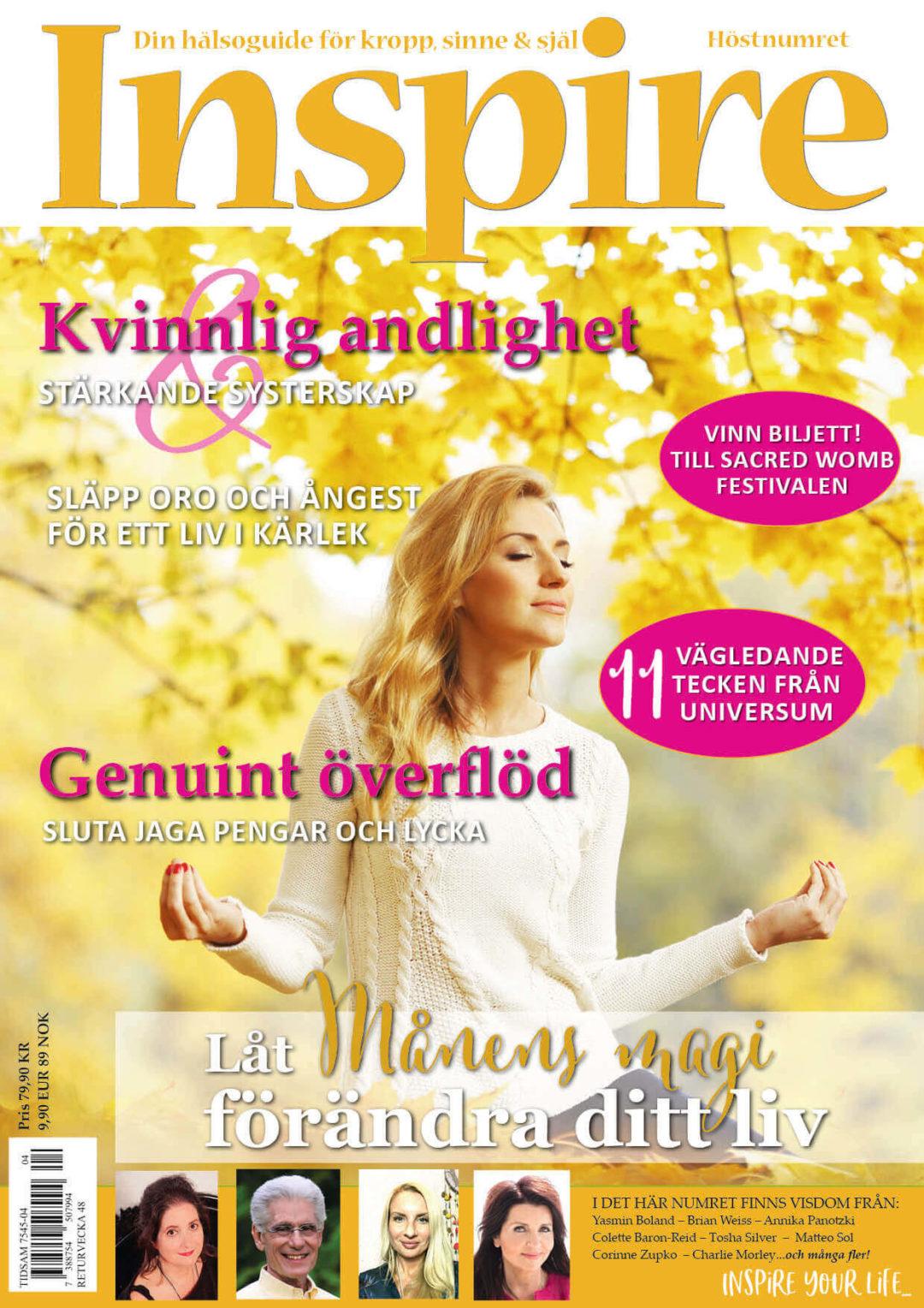 Zoës krönika, Inspire tidningen, september 2019